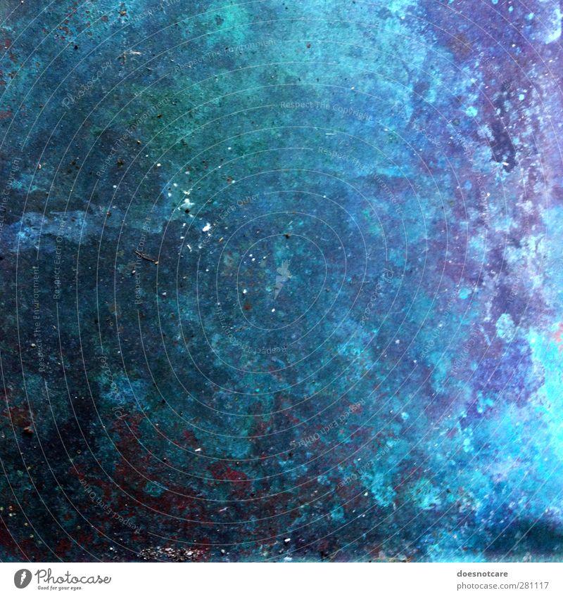 lostinspace. Himmel blau Metall Unendlichkeit Weltall violett türkis Rost Oberfläche Oberflächenstruktur Milchstrasse