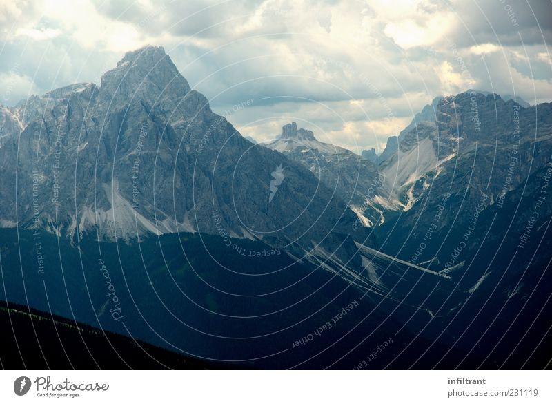 In den Alpen 3 Ferne Sommer Berge u. Gebirge wandern Landschaft Wolken Gewitterwolken Gipfel Österreich Italien ästhetisch gigantisch hoch natürlich oben schön