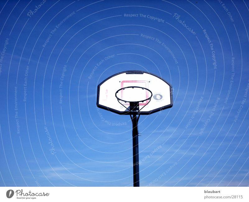 Guck' nach vorne! blau Sport Kreis Korb Basketball Basketballkorb