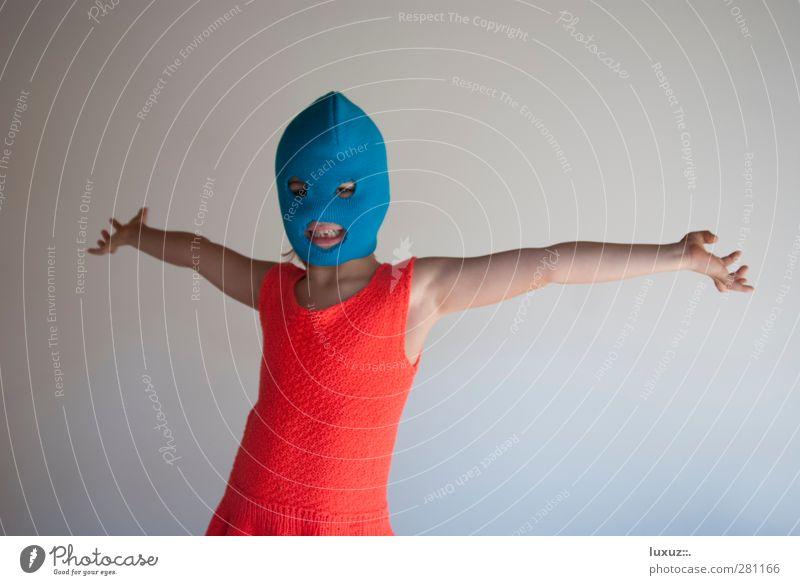 Pussy Riot Maske Mütze Punk rebellisch verrückt blau rot Wut protestieren verkleiden Guerilla Free Pussy Riot Kunstkampf Machtmissbrauch Aktivist Feminist