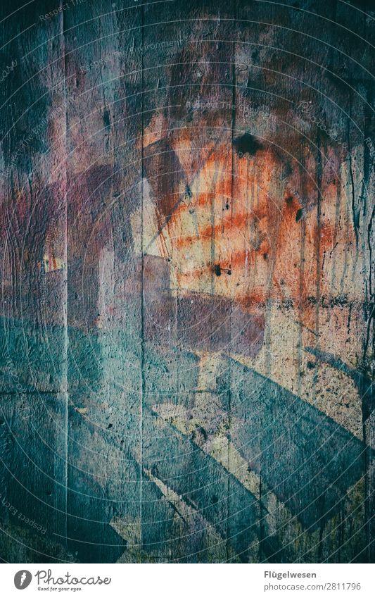 Wand alt altehrwürdig Shaby Used gebraucht modern Mauer Gemälde Graffiti Zeichnung Tapete Lichterscheinung Farbe Farbstoff Spray streichen bemalt malerisch