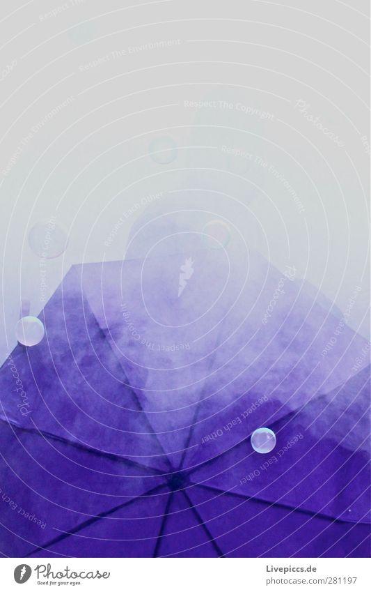 lila laune Party Veranstaltung Feste & Feiern Mensch maskulin Mann Erwachsene Kopf 1 18-30 Jahre Jugendliche Regenschirm violett Seifenblase Nebel Farbfoto