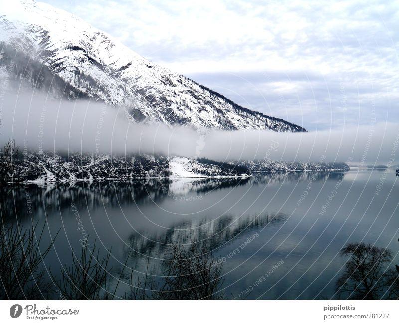 Geistersee Natur Wasser schön ruhig Winter Landschaft Erholung Umwelt Ferne Berge u. Gebirge Leben Schnee Freiheit See Stil Horizont