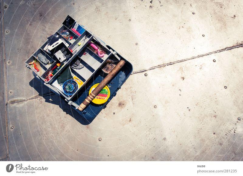 Angelkoffer Metall Freizeit & Hobby authentisch Boden Dinge Kasten Angeln Blech Haken Auswahl Angelköder aufbewahren Krimskrams Angelgerät Angelschnur