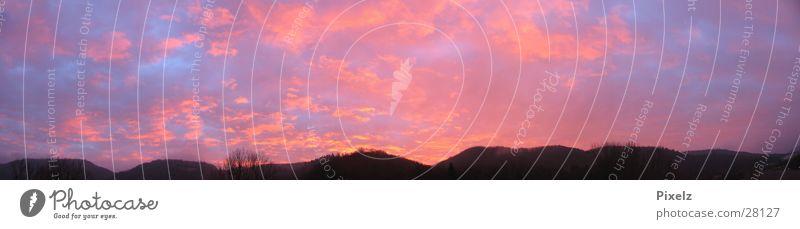 Sonnenaufgang Wolken Berge u. Gebirge groß Panorama (Bildformat)
