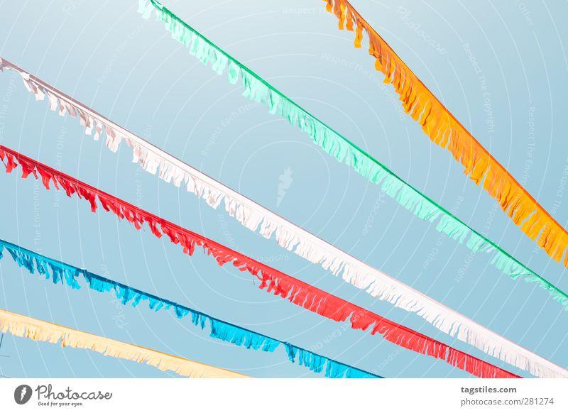 COLORS Himmel blau Himmel (Jenseits) grün Farbe Sommer weiß rot Freude gelb Farbstoff Beleuchtung Feste & Feiern orange Spanien Lichtstrahl