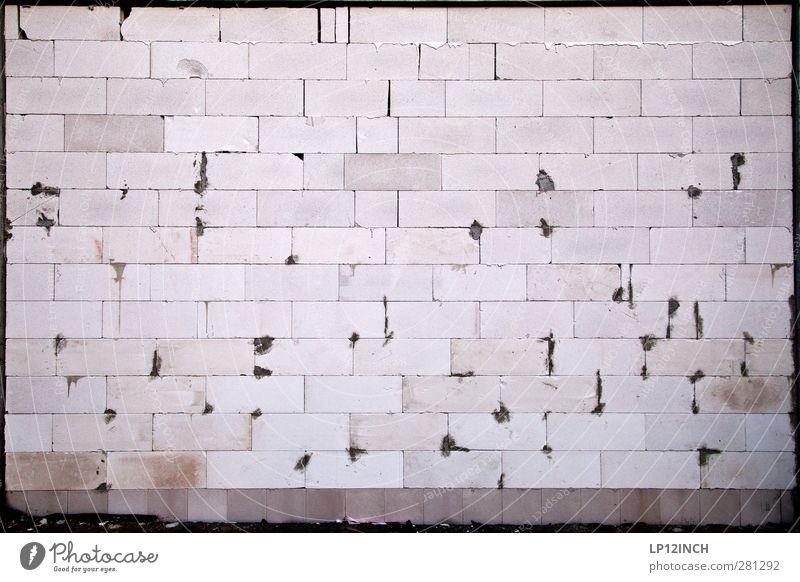 Maurer´s DELIGHT Mauer Wand Fassade Stein Arbeit & Erwerbstätigkeit bauen Häusliches Leben eckig planen Linie versetzt Gebäude Farbfoto Außenaufnahme