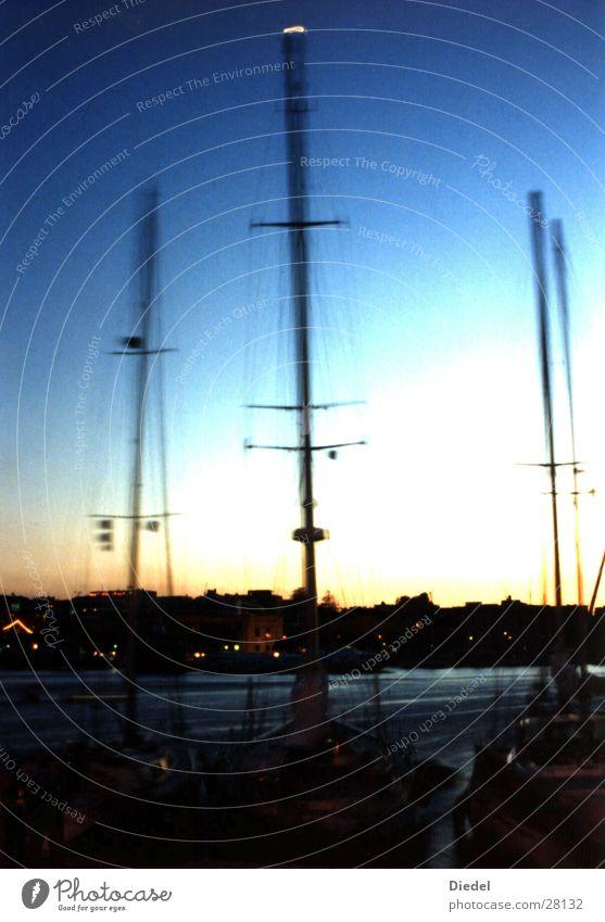 Rhodos Hafen Sunset Stimmung Europa Segelboot