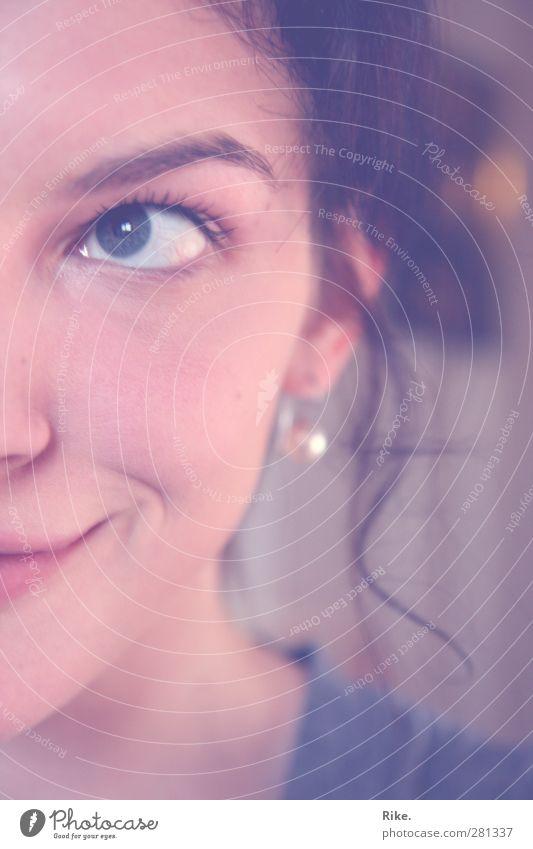 Skin. Mensch Jugendliche schön Freude Erwachsene Gesicht feminin Junge Frau Gefühle Glück Denken träumen 18-30 Jahre natürlich Zufriedenheit leuchten