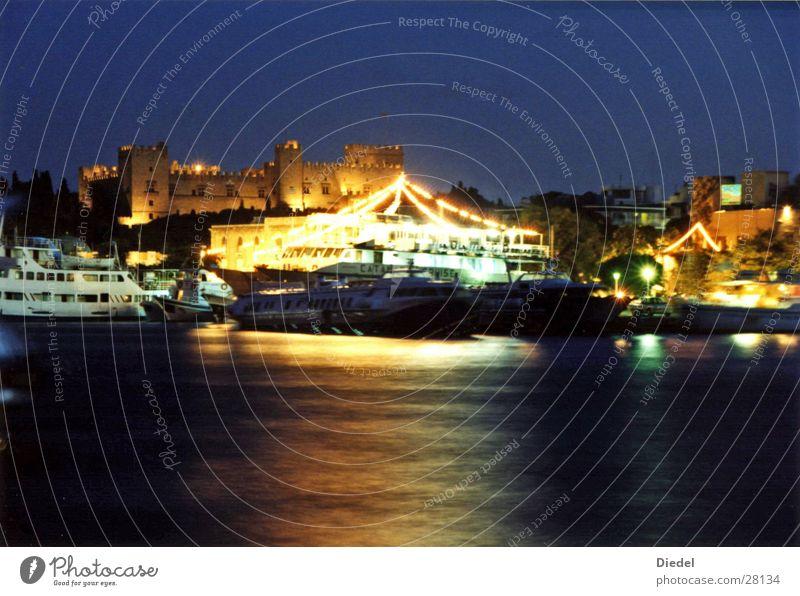 Rhodos Hafen Wasser Europa Griechenland