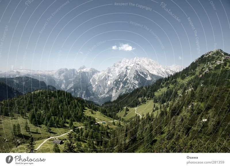 Steinernes Meer / Watzmann Ostwand / Jenner Klettern Bergsteigen wandern Umwelt Natur Landschaft Himmel Sommer Hügel Felsen Alpen Berge u. Gebirge Alpenwiese