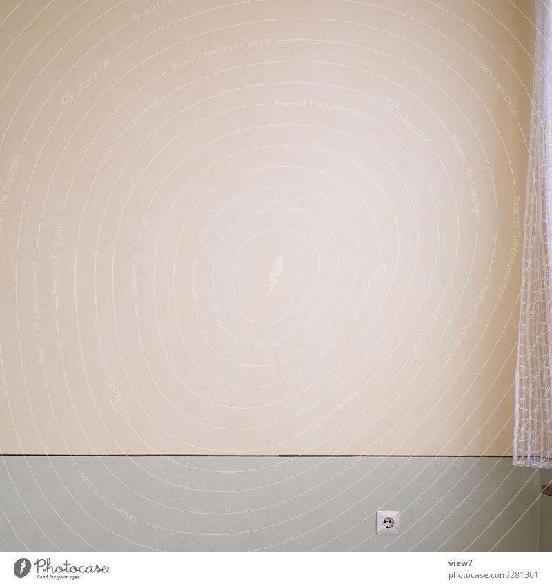 ohne Häusliches Leben Umzug (Wohnungswechsel) einrichten Innenarchitektur Haus Mauer Wand Fassade Stein Beton Linie Streifen ästhetisch authentisch einfach