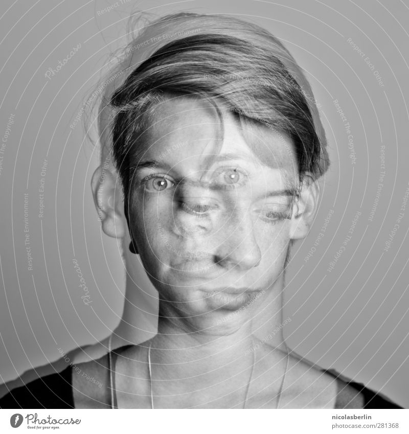 HOW LONG? Mensch Jugendliche schön Erwachsene kalt feminin Junge Frau Traurigkeit träumen 18-30 Jahre trist weich gruselig Konflikt & Streit skurril Stress