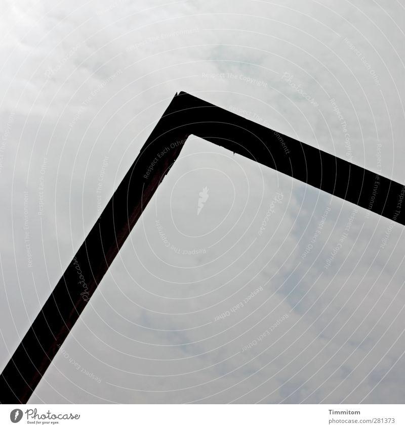 Durch das Tor gehen... schwarz grau Metall stehen ästhetisch Vergänglichkeit geheimnisvoll fest Stahl Rahmen