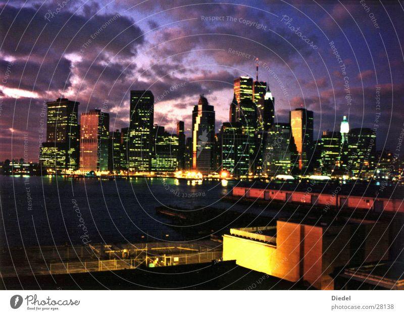 WTC Sunset Wolken New York City Manhattan Nordamerika World Trade Center
