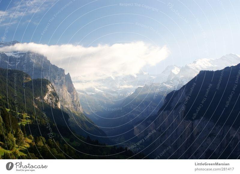 Natur Ferien & Urlaub & Reisen schön Sommer Sonne Wolken Landschaft Umwelt Berge u. Gebirge kalt Freiheit Horizont Erde Freizeit & Hobby groß wild