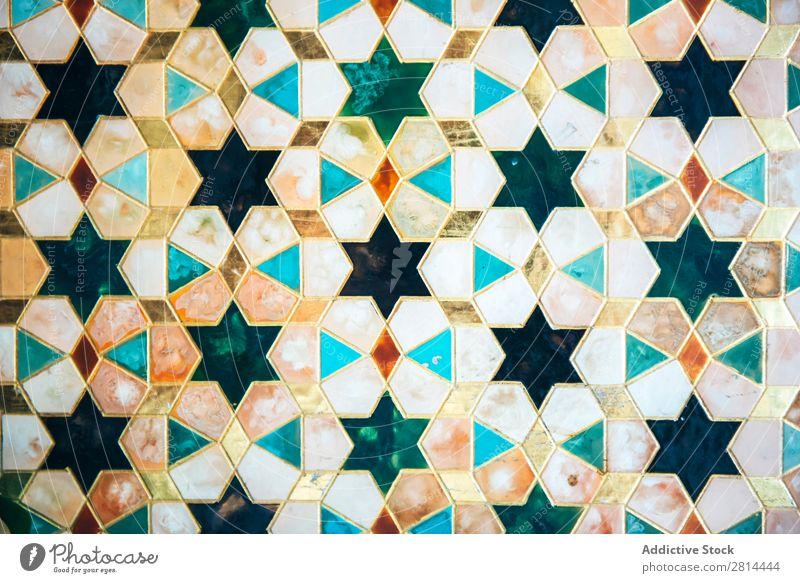Verzierte, mit Vintage-Mustern verzierte Fliesen arabisch Design Kunst retro braun blau heimwärts Hintergrundbild Tapete Dekoration & Verzierung Etage