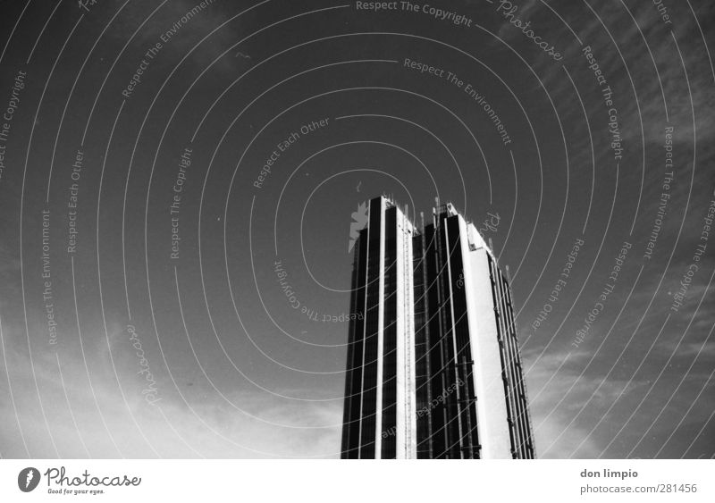 hochhaus Himmel Stadt Architektur Gebäude groß hoch Hochhaus modern analog