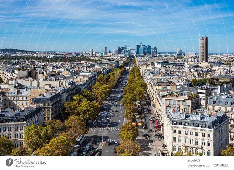 Blick auf die Bürostadt La Defense in Paris, Frankreich Erholung Ferien & Urlaub & Reisen Tourismus Städtereise Haus Wolken Herbst Baum Stadt Hauptstadt