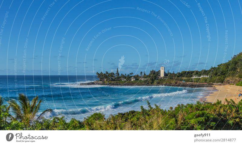 Oahu Hawaii Ferien & Urlaub & Reisen Tourismus Ausflug Abenteuer Ferne Freiheit Sommer Sonne Sonnenbad Strand Meer Insel Wellen Natur Landschaft Wasser Himmel
