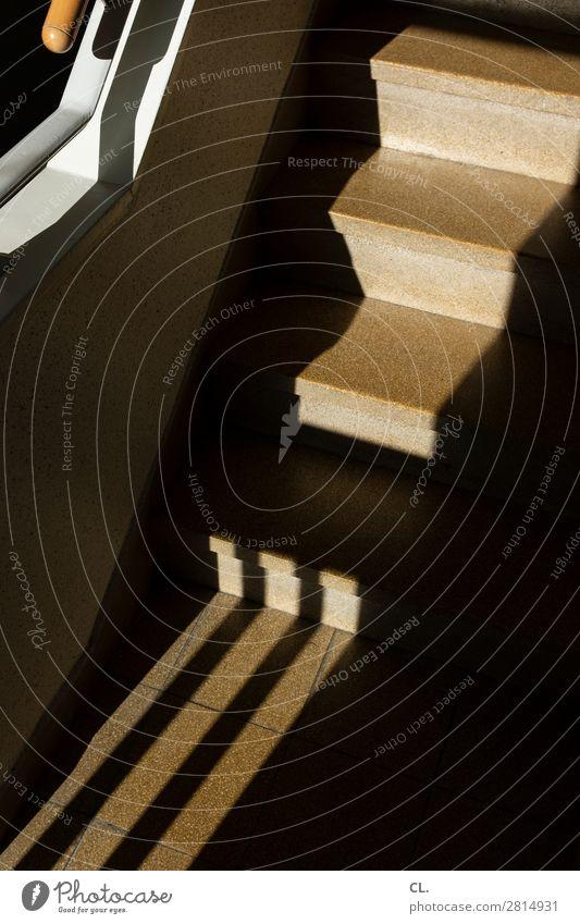 im treppenhaus 1 Wohnung Menschenleer Architektur Treppe Treppenhaus Treppengeländer ästhetisch eckig Wege & Pfade aufwärts Farbfoto Innenaufnahme abstrakt