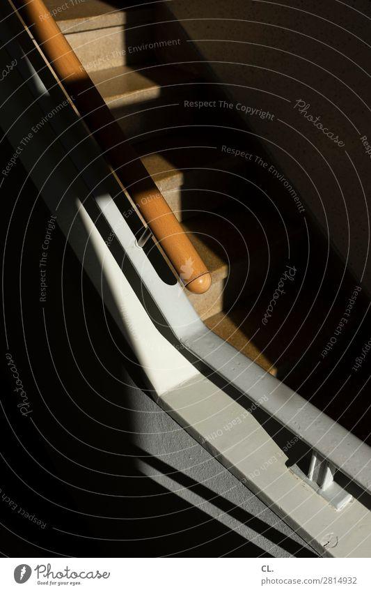 im treppenhaus 2 Wohnung Menschenleer Architektur Treppe Treppenhaus Treppengeländer ästhetisch eckig Wege & Pfade aufwärts Farbfoto Innenaufnahme abstrakt