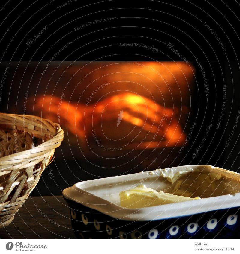 frühstück! frische croissants! Lebensmittel Brot Brötchen Croissant Butter Ernährung Frühstück Duft heiß lecker Herd & Backofen Butterdose Brotkorb