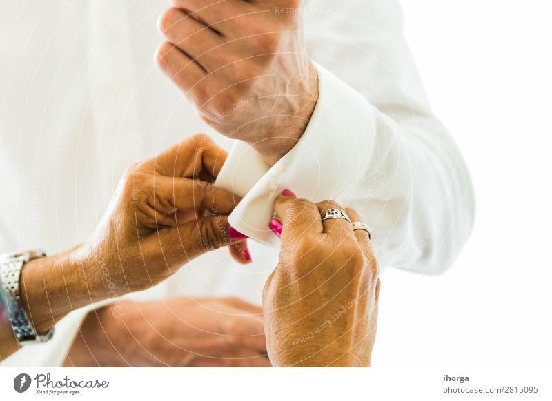 Mensch Mann weiß Hand Erwachsene Stil Business Mode Zusammensein Büro maskulin modern elegant Fröhlichkeit Finger Bekleidung