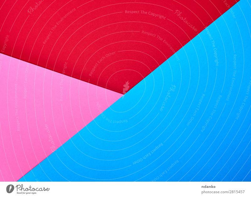 abstrakter Hintergrund aus bunten Formen Design Dekoration & Verzierung Handwerk Kunst Papier hell blau rosa rot Farbe Idee Kreativität Transparente Entwurf