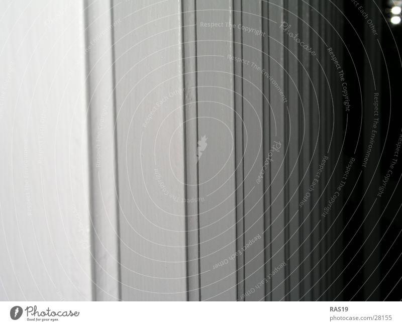 Unendlichkeit weiß schwarz grau Architektur Geländer Säule Raster