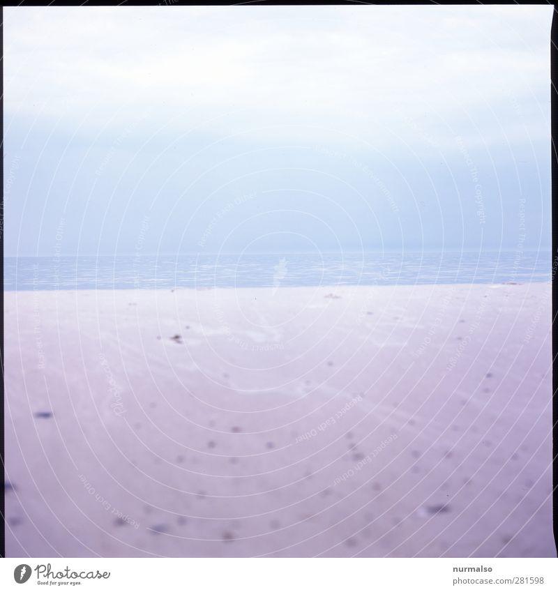 wenig Meehr Natur Wasser Ferien & Urlaub & Reisen Meer Strand ruhig Landschaft Winter Erholung Umwelt Ferne Herbst Küste Freiheit Kunst Wellen