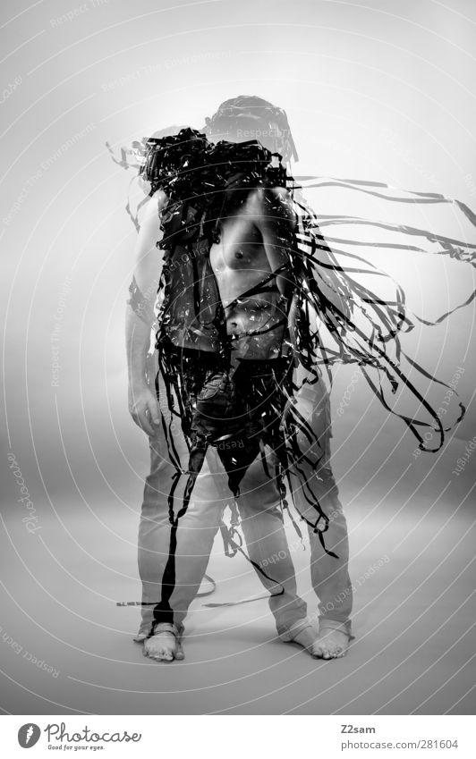 Metamorphose IV elegant Stil Junger Mann Jugendliche 1 Mensch 18-30 Jahre Erwachsene Skulptur Medien Filmindustrie Video stehen träumen Wachstum ästhetisch