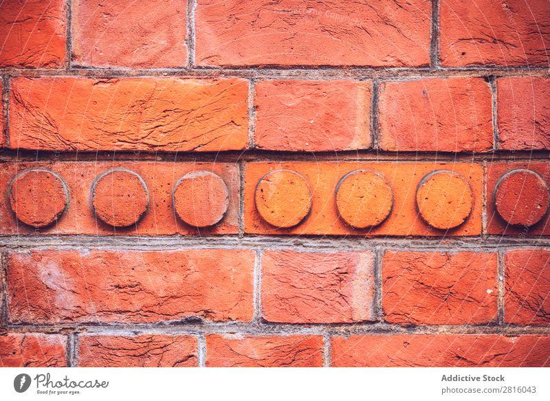 Texturierter Hintergrund der hellen Ziegelwand Konsistenz Hintergrundbild Backsteinwand Wand alt Block Oberfläche Architektur Material Strukturen & Formen
