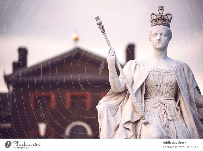 Königin Victoria Statue London Palast Königlich England Tor historisch Dekoration & Verzierung Kunst Denkmal Ferien & Urlaub & Reisen Tourismus Stadt