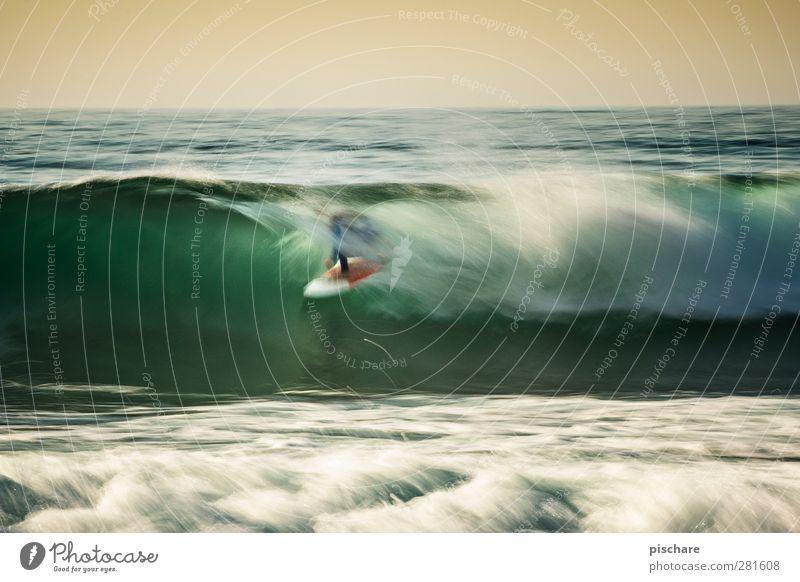 Covered by happiness Natur Wasser Sommer Meer Sport Bewegung außergewöhnlich Wellen Freizeit & Hobby Abenteuer Urelemente Coolness Lebensfreude sportlich