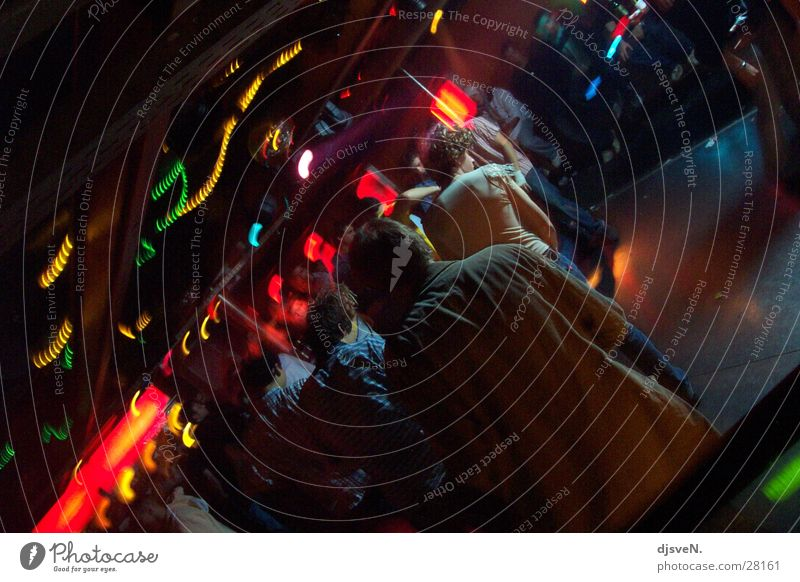 diskotheken_rock Mensch rot Party Tanzen glänzend Disco Club Tanzfläche