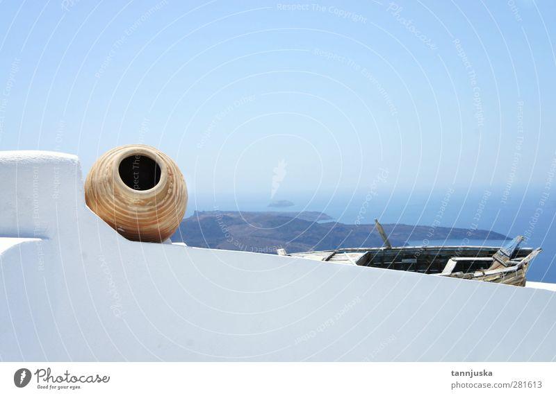 Himmel Natur Ferien & Urlaub & Reisen blau alt schön weiß Farbe Sommer Meer Erholung Haus Berge u. Gebirge Leben Architektur Gebäude