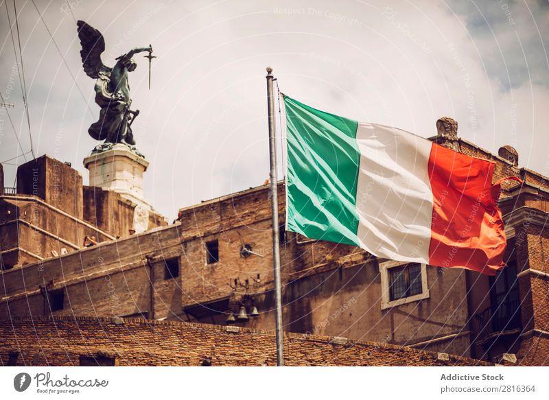 Rom - Schloss Sankt Angelo, Italien angelo Burg oder Schloss Sant Heilige Italienisch Fluss Ferien & Urlaub & Reisen Wahrzeichen Panorama (Bildformat)