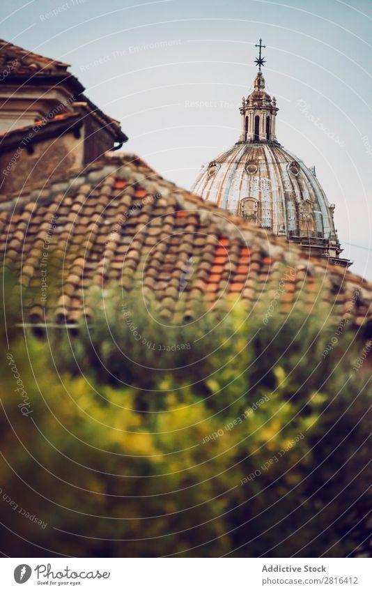 Detail von Rom Stadt, Italien. Dach und Kirche Straße Nahaufnahme alt altehrwürdig Detailaufnahme Europäer Außenaufnahme antik Europa Italienisch