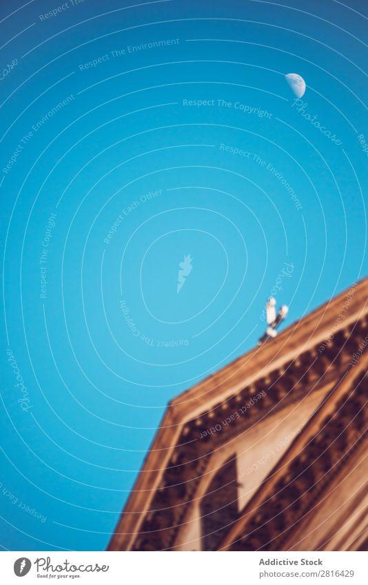 Detail von Rom Stadt, Italien. Kirche und Mond Straße Nahaufnahme alt altehrwürdig Detailaufnahme Europäer Außenaufnahme antik Europa Italienisch