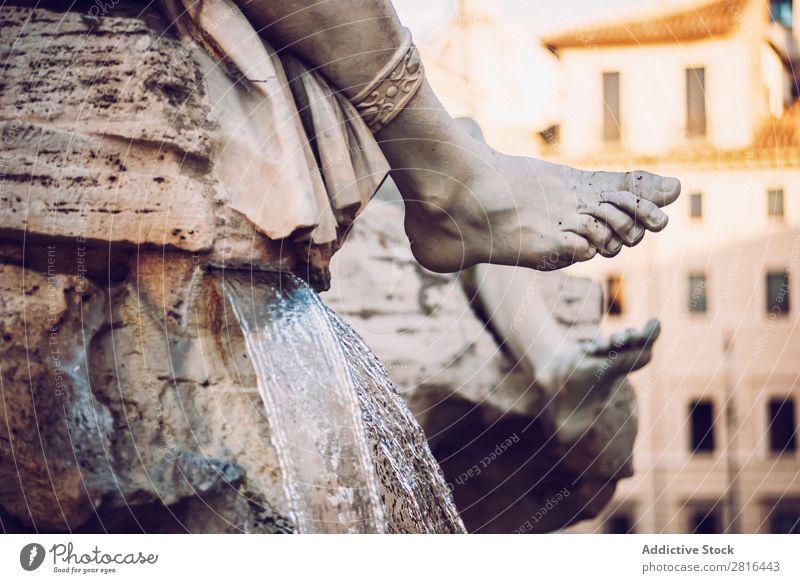 Detail des Brunnens auf der Piazza (Platz) Navona, Rom, Italien fein Gott Griechen navona Kunst Detailaufnahme Künste Italienisch Klassik Quadrat Stadt Skulptur