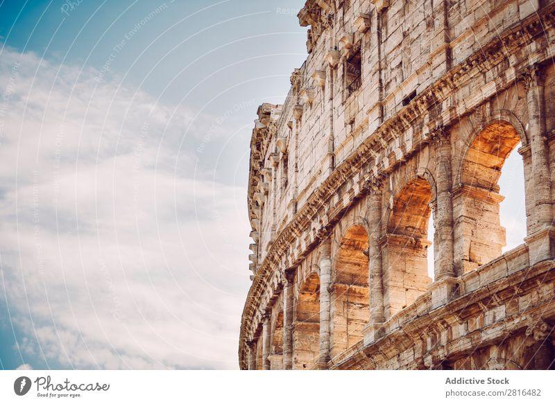 Kolosseum Nahaufnahme, Rom, Italien Kaiserreich Italienisch historisch Stein weiß Ferien & Urlaub & Reisen Sonnenaufgang Archäologie Europäer Wahrzeichen Kultur