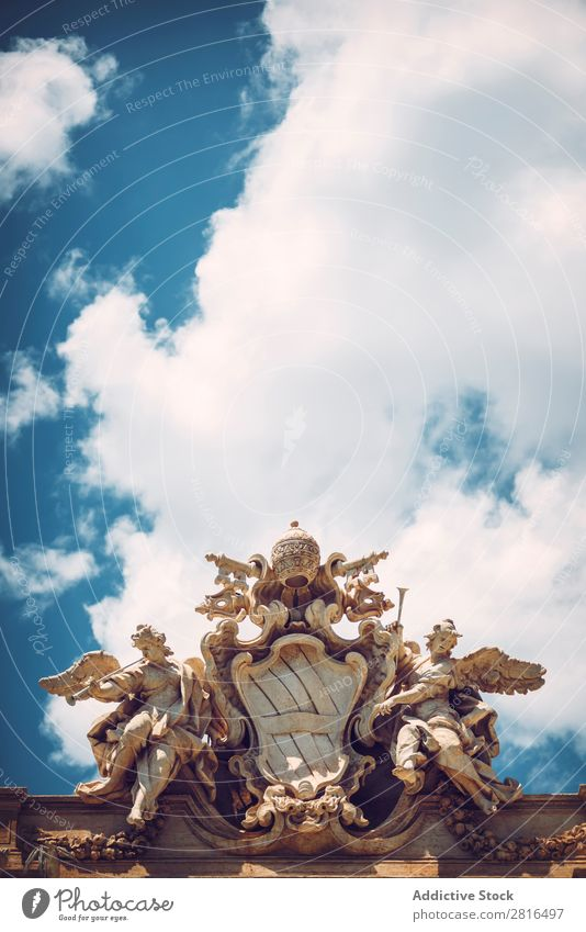 Detail von Fontana di Trevi, Rom, Italien trevi Springbrunnen Roma Tour Italienisch Kunst Europäer Denkmal Bernini Europa Gebäude Panzer klassisch Stein Tritons