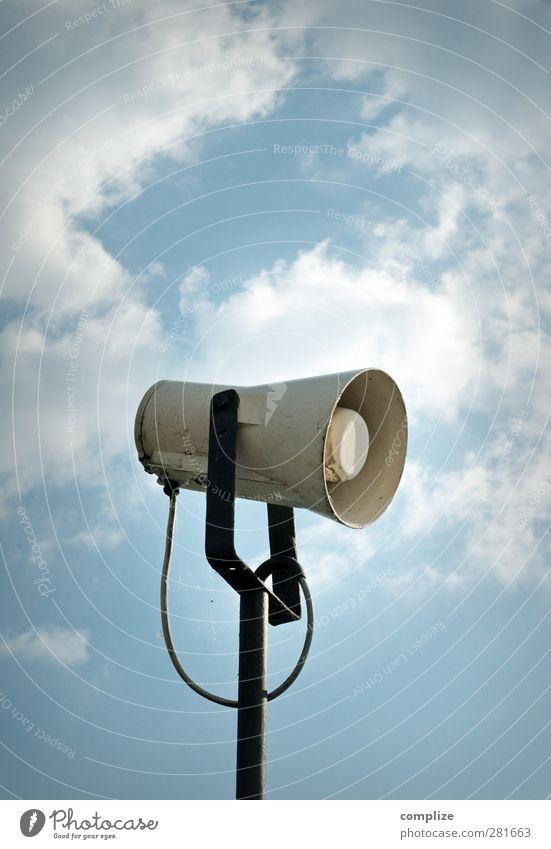 Achtung, Achtung, eine Durchsage..! Himmel sprechen Business Technik & Technologie Telekommunikation Zeichen Netzwerk Medien Werbung Handel