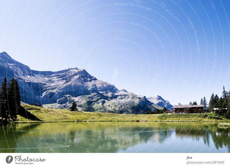 Lac Retaud Zufriedenheit Erholung ruhig Tourismus Ausflug Freiheit Sommer Berge u. Gebirge wandern Natur Landschaft Urelemente Luft Wasser Wolkenloser Himmel