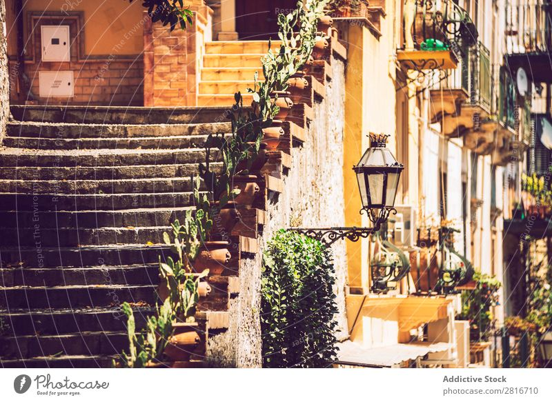 Detailansicht von Taormina, Sizilien, Italien Ätna Italienisch Meer Insel Berge u. Gebirge Theater Aussicht alt Griechen Dorf historisch Architektur