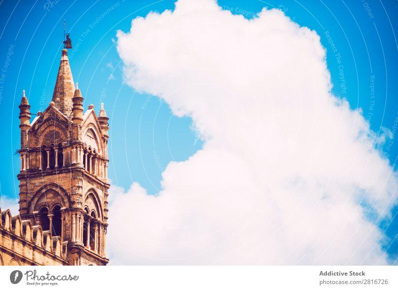 Palermo Kathedrale Textur Hintergrund Italienisch Dekoration & Verzierung Turm mittelalterlich historisch Christentum Europäer Wahrzeichen Zwilling Gebäude