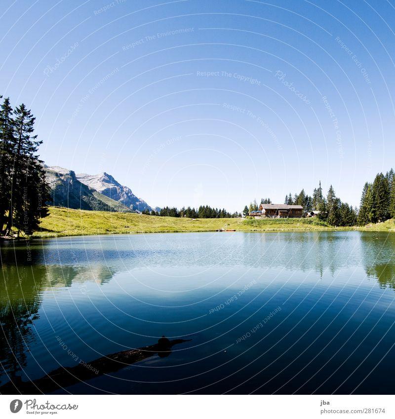 Lac Retaud Natur blau Wasser Ferien & Urlaub & Reisen Sommer ruhig Landschaft Wald Erholung Berge u. Gebirge Leben Küste Freiheit See Luft Felsen