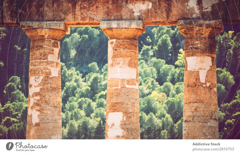 Der berühmte Tempel von Segesta in Sizilien, Italien. Agrigento Griechen hellenistisch Stein Ferien & Urlaub & Reisen Sizilianer Wahrzeichen Säule dorisch