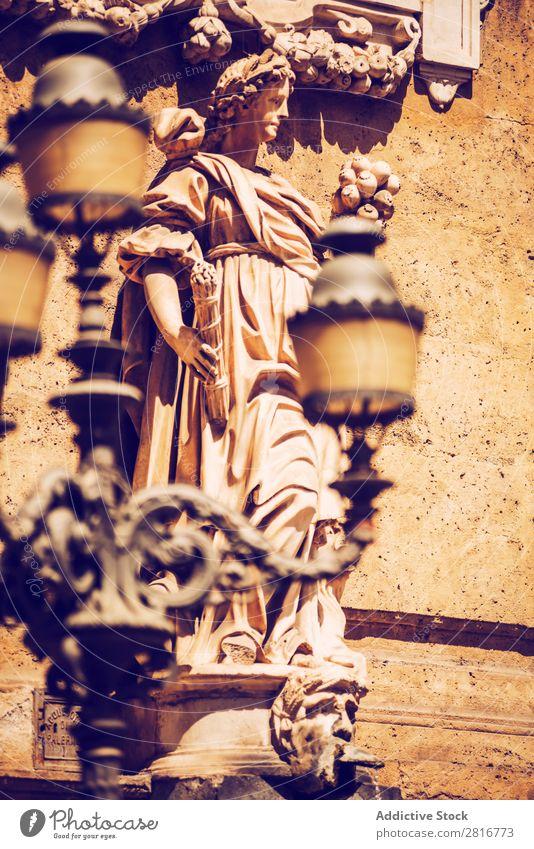 Stadtansicht Detail von Palermo Stadt, Sizilien, Italien Straße Architektur typisch Kultur Balkon antik
